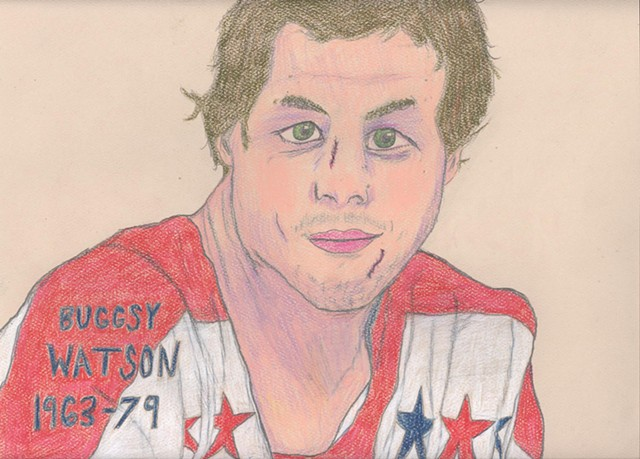 "Portrait of Hockey Player Bryan ""Buggsy"" Watson by Christopher Stanton"