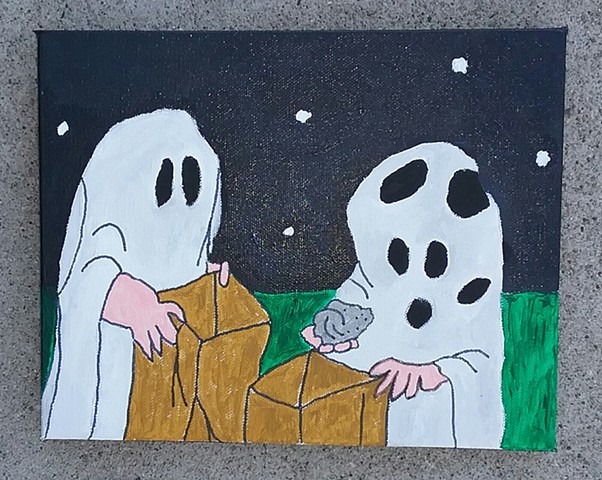 Acrylic painting from It's the Great Pumpkin Charlie Brown by Christopher Stanton