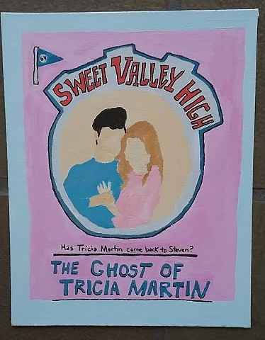 Acrylic painting of a Sweet Valley High book cover by Christopher Stanton