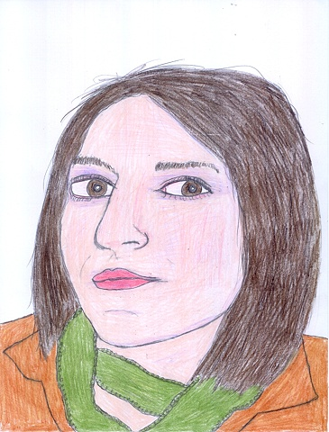 Drawing of Debra Bianculli by Christopher Stanton