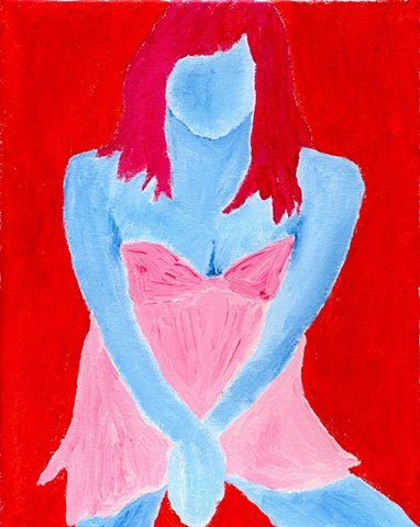 Acrylic painting of a woman by Christopher Stanton