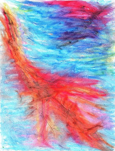 Oil pastel abstract