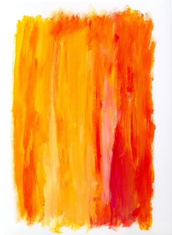 Orange and yellow abstract painting by Christopher Stanton