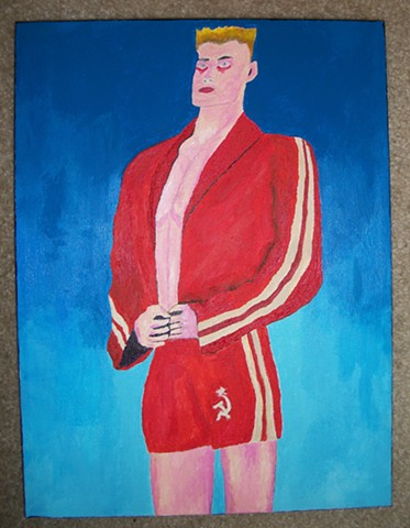 Painting of Ivan Drago (Dolph Lundgren) from Rocky IV by Christopher Stanton