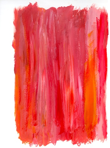 Red abstract painting by Christopher Stanton
