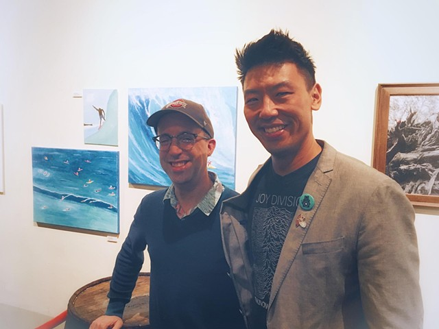 Artist Christopher Stanton and Photographer Rollence Patugan