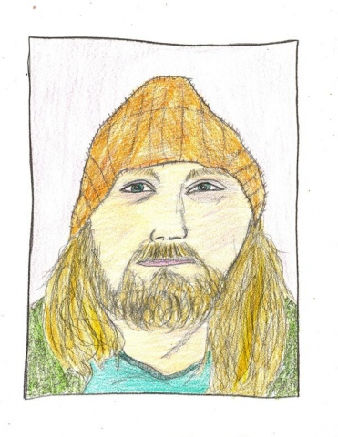 Drawing of the late artist Joe Heaps Nelson by Christopher Stanton