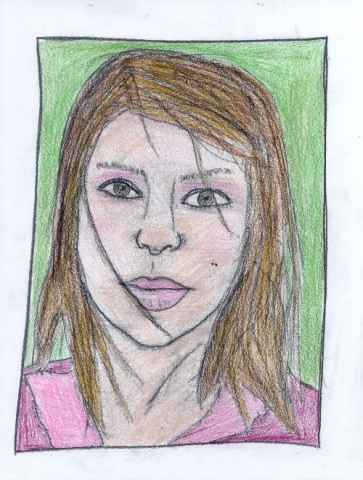 Drawing of Meg by Christopher Stanton