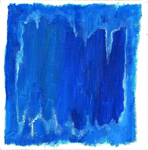 Blue abstract painting by Christopher Stanton