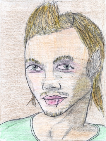Drawing of D Mac from Myspace by Christopher Stanton