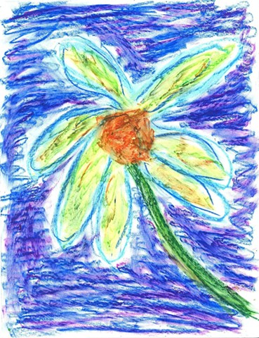 Pastel drawing of a flower by Christopher Stanton