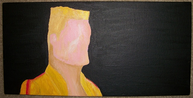 Acrylic painting of Ivan Drago (Dolph Lundgren) from the film Rocky IV by Christopher Stanton