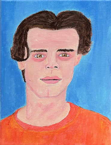 Acrylic painting of model Conrad Solaka by Christopher Stanton