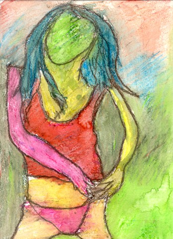 Abstract drawing of a woman by Christopher Stanton
