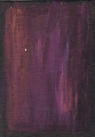 Purple abstract acrylic painting by Christopher Stanton