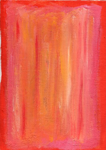 Red and pink abstract acrylic painting by Christopher Stanton