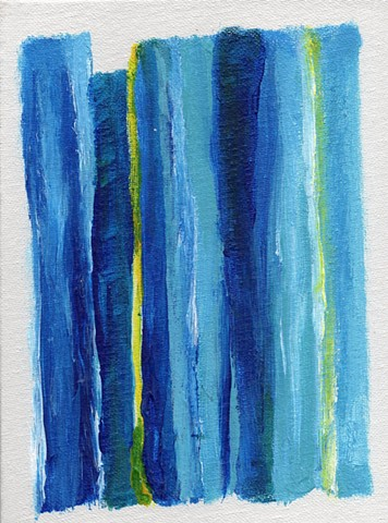 Blue and yellow abstract painting by Christopher Stanton