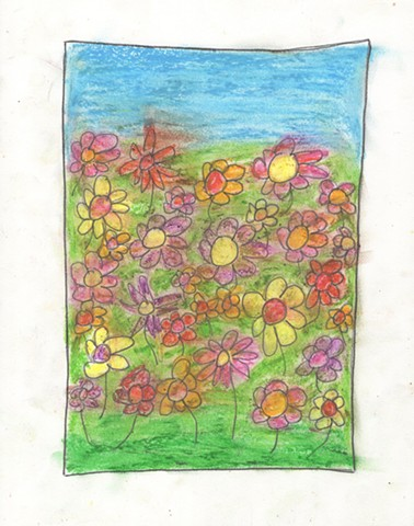 Drawing of flowers by Christopher Stanton