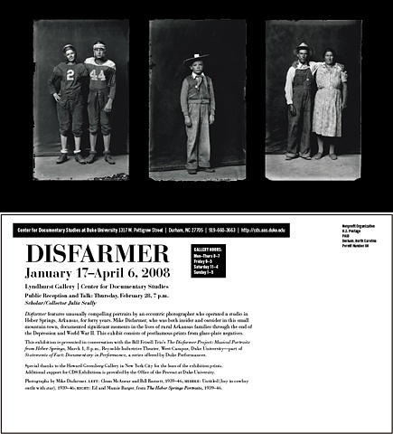 Disfarmer exhibition postcard