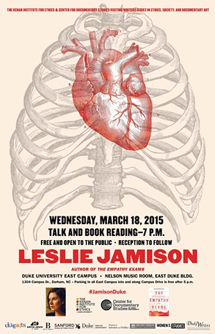 Poster for a reading. Designed for the Center for Documentary Studies, 2015.