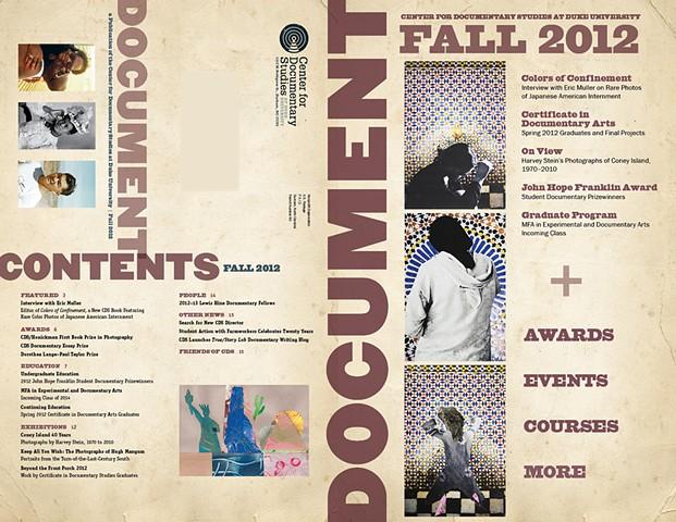 DOCUMENT newsletter spread