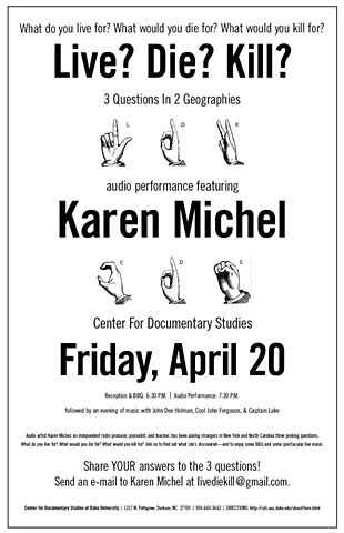 Poster for a lecture