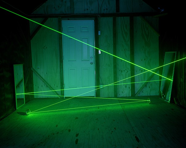 A Laser Beam in a Cabin