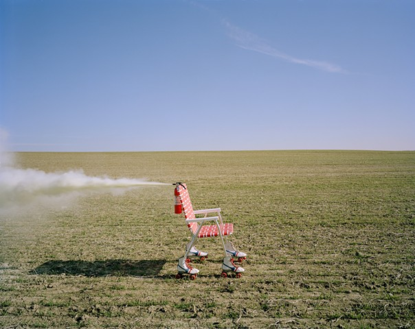 Lawn Chair, Roller Skates, Fire Extinguisher