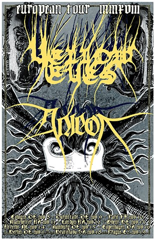 Yellow Eyes / Anicon Euro Tour Poster
