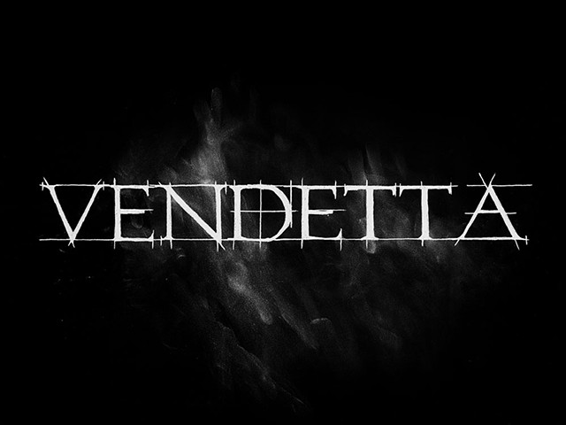 Hand drawn and smudged logo for Vendetta Records