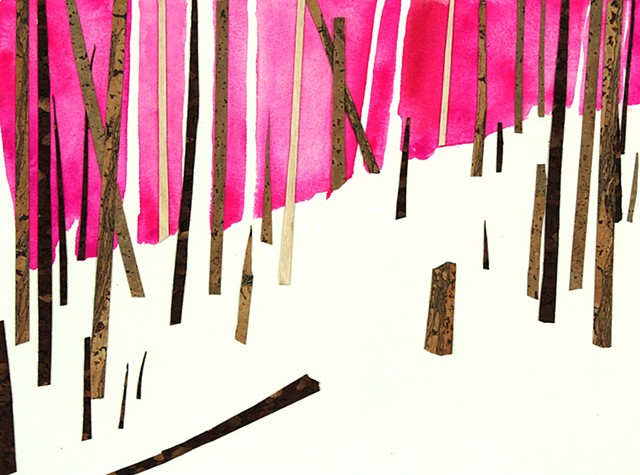 Forest collage by artist Owen Rundquist