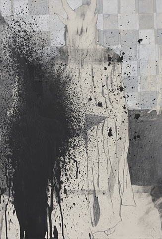 Drawing of a black mass by artist Owen Rundquist