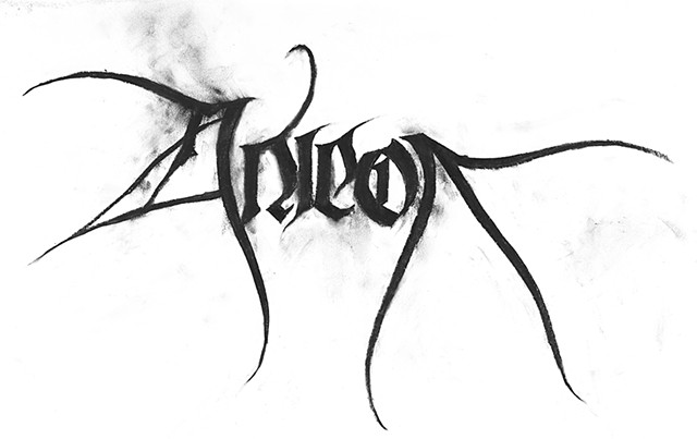 Hand drawn and smudged Anicon logo