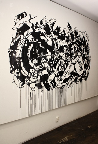 Wall drawing by artist Owen Rundquist and Alexander DeMaria