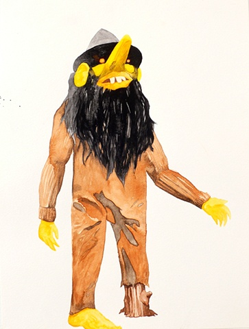 Drawing of a troll by artist Owen Rundquist