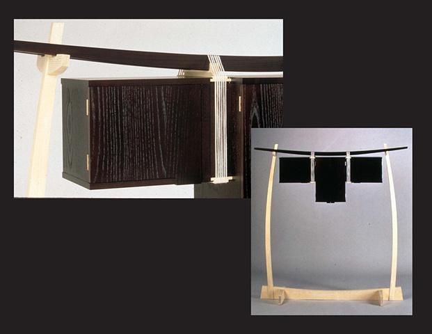 """Hanging Cabinet"", furniture piece by Rich Tannen"