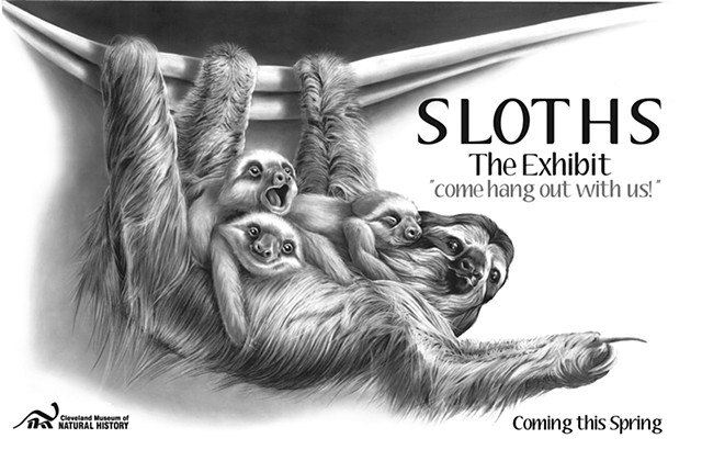 Sloths! The Exhibit - Cleveland Museum of Natural History Mock Poster Design/Illustration