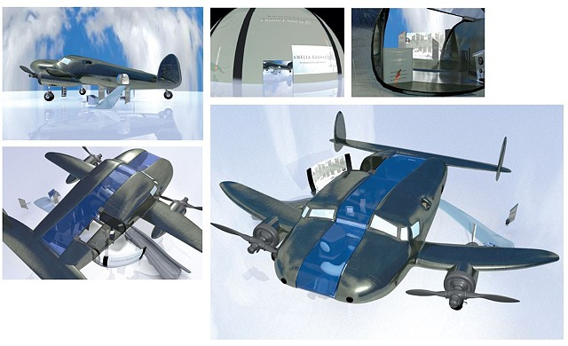 3D Visualization of Ameila Earhart's Plane: Exhibition Design