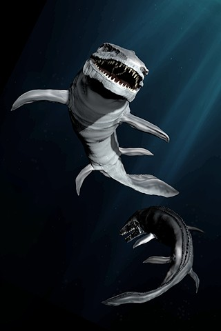Mosasaurus 3D Visualization by Veronica Cava