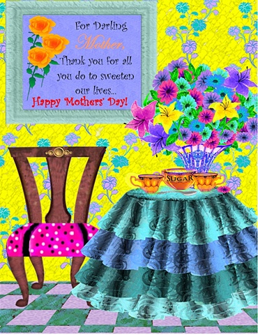 Hand-crafted and embellished Mothers' Day Card