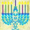 Flower Menorah for Hanukkah