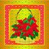 """Basket of Pointsettias""  Christmas Card"