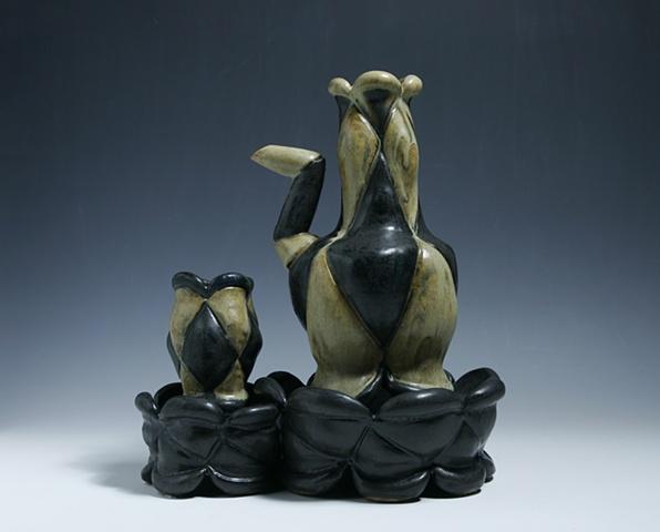 stoneware ceramic bottle