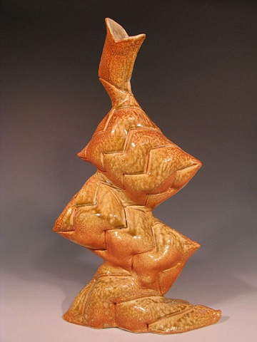 Orange Pillow Vase