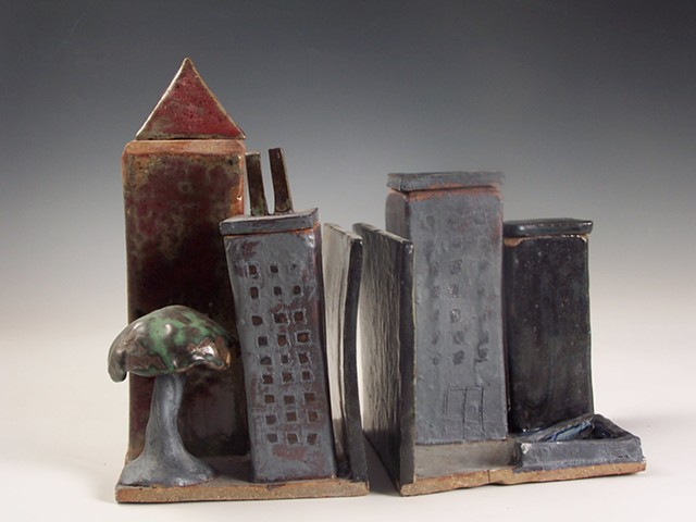 Slab Built Book Ends