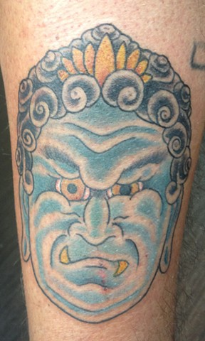 Fudo head tattoo