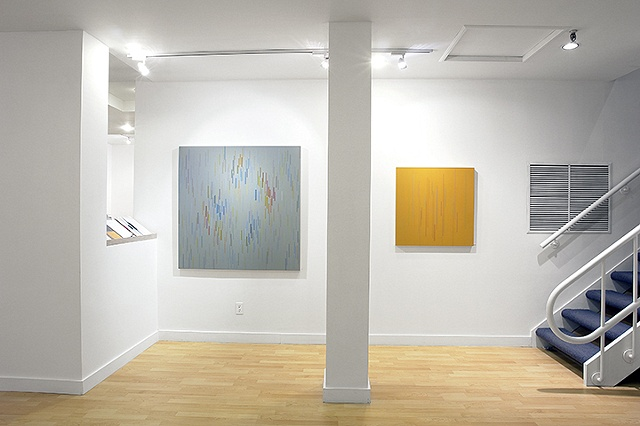 Installation view of Untitled 07 2008 and Untitled 11 2009