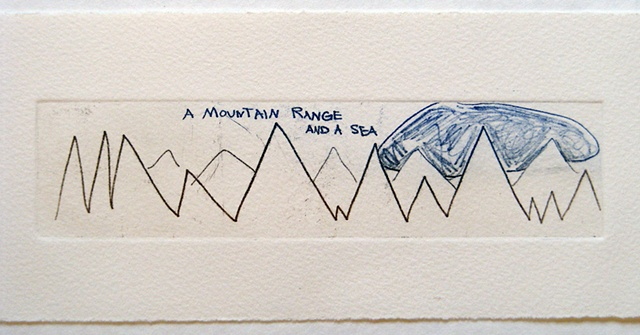 """mountain range and a sea"""
