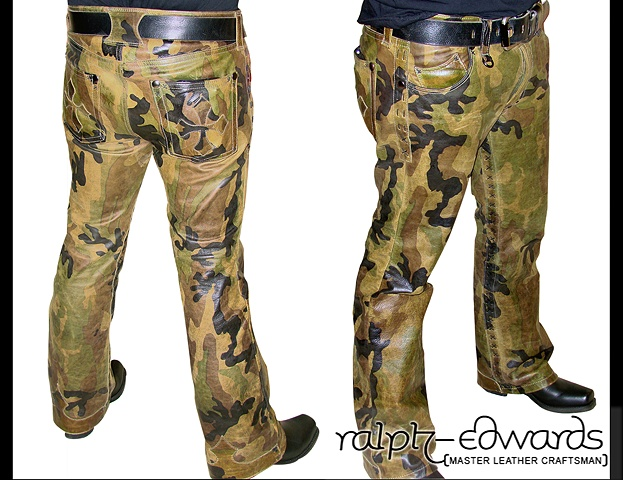 Camo Leather Pants