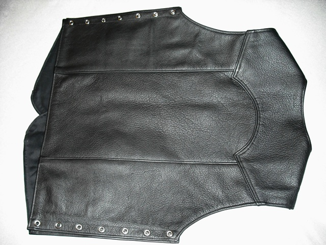 Motorcycle Vest - 3/4 oz. Cowhide